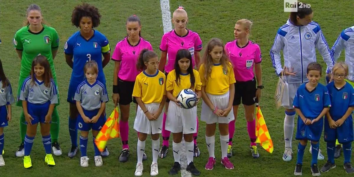 Europei Femminili Inghilterra 2021 - Qualificazioni Campionati Europei 2021 - Italia vs Bosnia ...