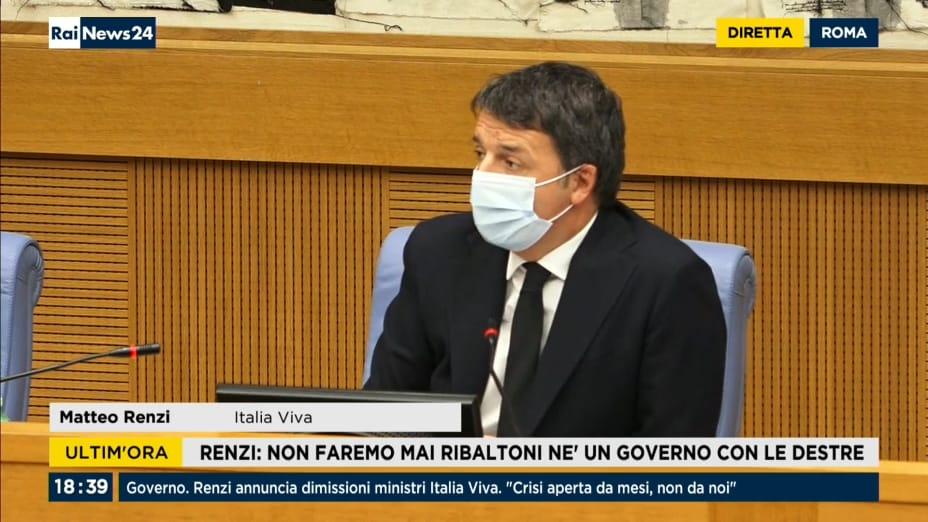 Playlist24 - RaiNews24. Renzi, Italia Viva esce dal ...