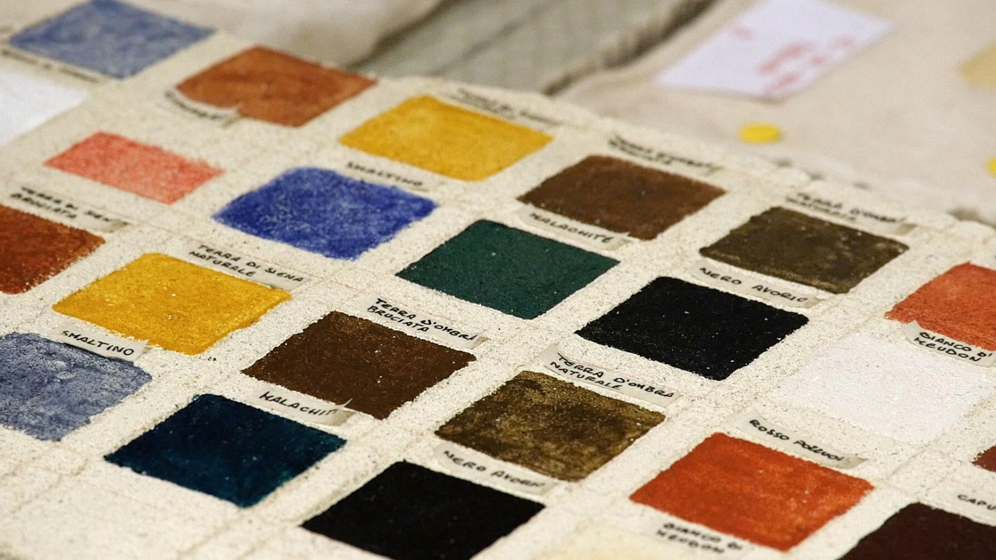Rai Scuola I segreti del colore  Il cantiere di Michelangelo e Raffaello Replica