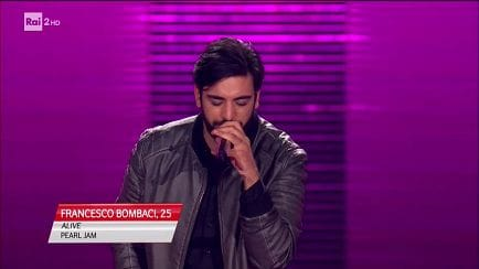 "The Voice of Italy - Francesco Bombaci: ""Alive"" - Blind Auditions - RaiPlay"