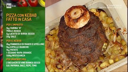 Ricetta Kebab La Prova Del Cuoco.La Prova Del Cuoco S2019 20 Pizza Con Kebab Fatto In Casa Video Raiplay