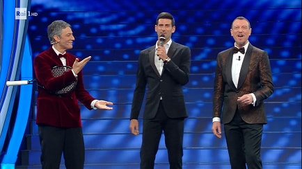 Festival di Sanremo - Novak Djokovic sul palco dell'Ariston - RaiPlay